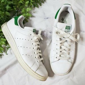 Adidas Originals Stan Smith White & Green Sneakers